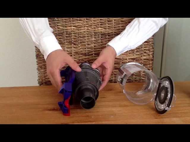 как достать фильтр в пылесосах дайсон