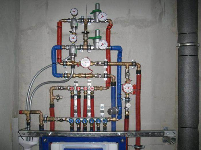 wiring of water pipes from the borehole